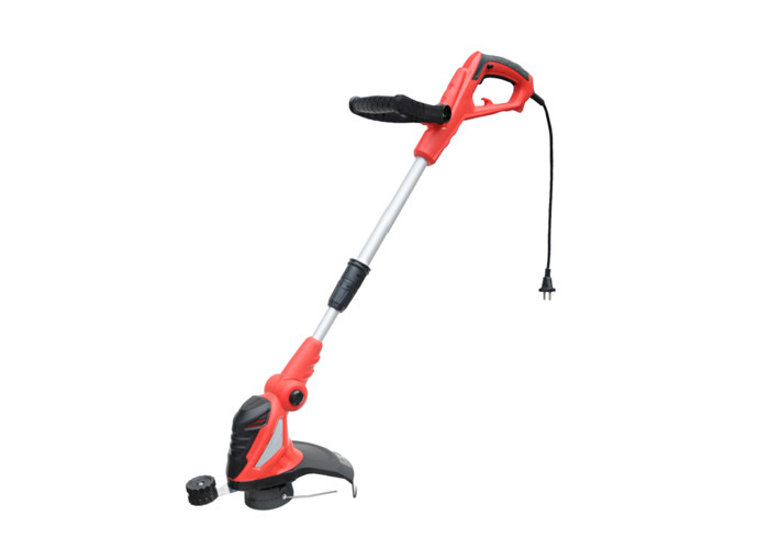 Red Electric Hand Held Grass Cutter Portable 550w Grass Trimmer